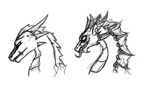 dragon sketches by Dragon-Factor