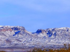 Mountains Near Elephant Butte by Tulpi