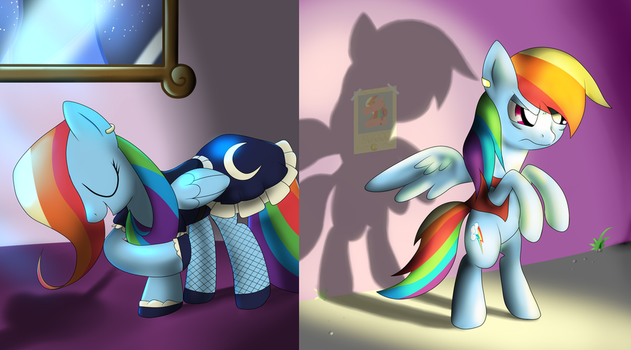 Rainbow Dash the Maid, the Searcher by nutkicker18