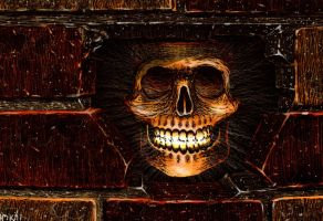 The Skull in the Wall 2 by Frohickey