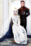 The Snow Queen and her Royal Consort by wintrydrop