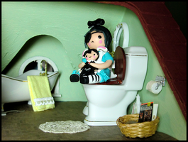 Ciel in... Bathroom Land by GrandmaThunderpants