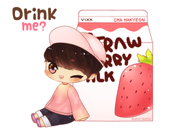 Strawberry Milk by Black-Quose