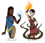 Amell and Surana by SuzumeKirei