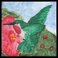 Tiny Hummingbird Painting by GekkouKitsune