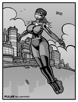 Bombshell That Is Not Blue by lightfootcomics