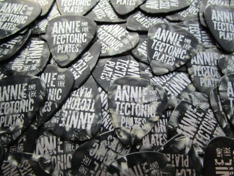 Annie and the Tectonic Plates Plectrums by black-rider