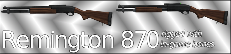 Remington 870 (UPDATED!) (Rigged) by ProgammerNetwork