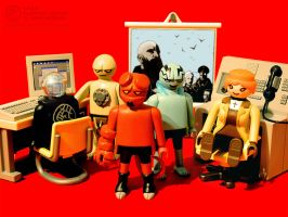 Hellboy Playmobil - BPRD HQ by JakobWestman