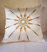 Pillow_8_The amber sun by O-l-i-v-i