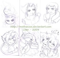 Chibi-sketches - Beyblade by Methanoos