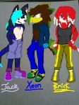 Xeon and his Buds Done by Mighty-C-amurai