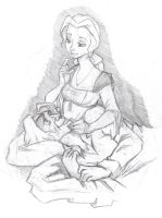 OUaT doodle - Complementery by Miskantle
