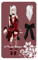 Rose Girl Adopt Auction [CLOSED] by xYuujin-Adopts