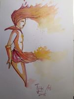 Sailor Mars vs Water Color by Tjibi