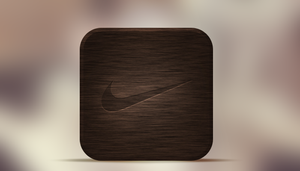Nike IOS App Icon by SpaceDyeDesigns