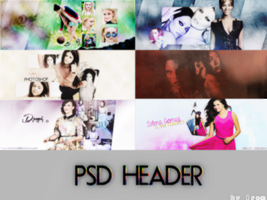 PSD HEADER PACK by demilena1D