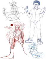 Donation Livestream Sketches by divi