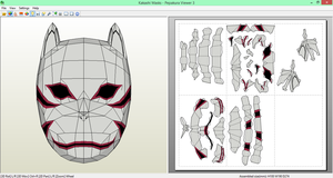Kakashi Anbu Mask Papercraft [DOWNLOAD] by SIBOR270898