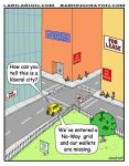 Liberal City Cartoon by Conservatoons