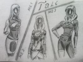 sketches Tali (20) by spaceMAXmarine
