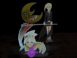 Let's Draw: Soul and Maka! by Alexandritea