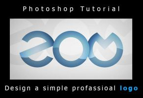 Photoshop Logo Tutorial : Simple Professional Log by How2Des