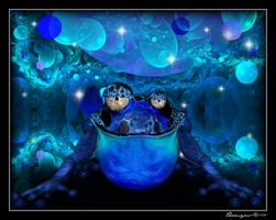 Blue Zen Frog by Thamyris71
