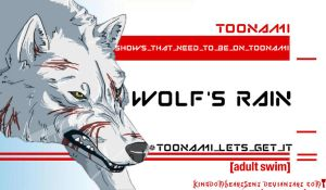 Wolf's Rain Should Be on Toonami by KingdomHeartsENT