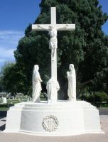 Mount Olivet Cemetery Crucifixion 1 by Falln-Stock