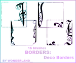 Deco Borders by Foxxie-Chan