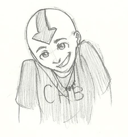 Aang - Camp Half Blood by Mababwion1