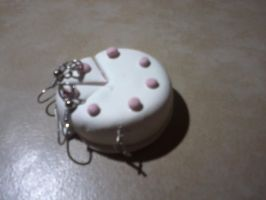 cake charm and earrings cake peices by everlove13
