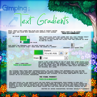 Text Gradient Tutorial with Gimp! by radiantine