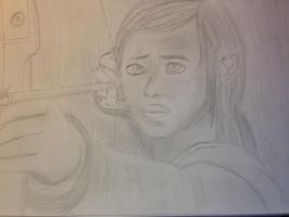 The Last of Us Sketch - Ellie by PsychoWriter16