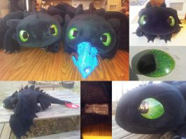 Toothless Plush 8 and 9 by Super3dcow