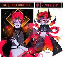 FIRE DEMON ROOSTER - NEONPUNK 2017 [CLOSED] by txunnpae