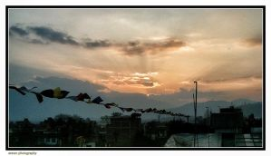 Kathmandu Sunset by Arawn-Photography