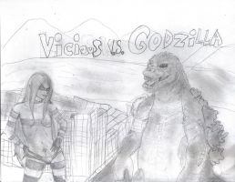 Vicious Vs. Godzilla by straightjacket12