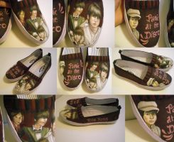 Panic at the disco shoes--Ryan by zen1990