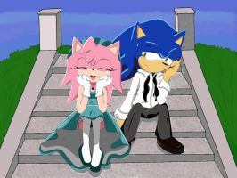 SonicXAmy :: Just friends by yanin15