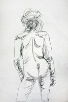 Contour Life Drawing by chicken-blast