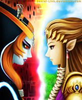 Midna and Zelda by Daniel-Link