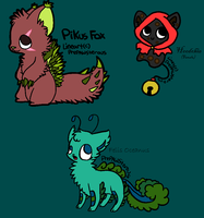Original Species Adopts - Adopted by Feralx1