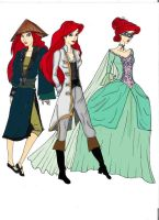 POTC TLM Ariel's costumes by Selinelle
