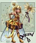 [CLOSED] Queen B - Insect Mage by iKiska