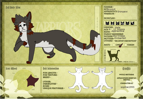 Ironpaw of Willowclan by SophSouffle