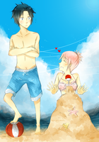 fun at the beach~ by Nekuri-kun