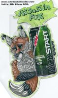 Assassin Fox Drink Badge - Batch 2 by ZinStone