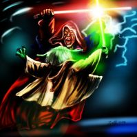 Yoda Vs Sideous by DarthMater